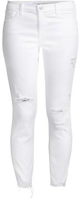 J Brand 835 Mid-Rise Distressed Crop Skinny Jeans