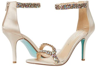 Blue by Betsey Johnson Angie Heeled Sandal (Champagne) Women's Shoes