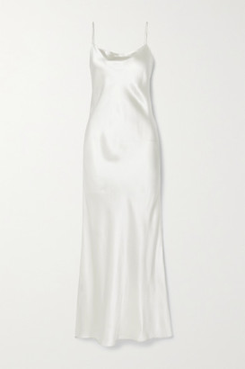 Anine Bing Chloe Silk-satin Maxi Dress - Ivory