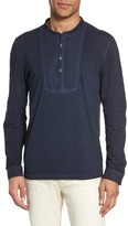 John Varvatos Men's Long Sleeve Cotton Henley