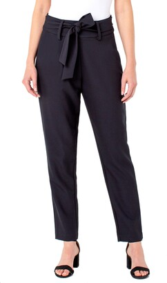 Liverpool Los Angeles Liverpool Sash Tie Stretch Twill Trousers