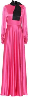 Roksanda Lela silk-satin gown