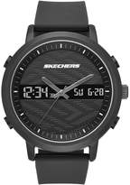 Skechers Men's Quartz Metal and Silicone Casual Watch, Color: