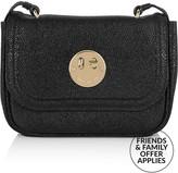 Hill & Friends Happy Pebbled Calf Mini Bag- Black