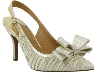 J. Renee Charise Bow Pointed Toe Slingback Pump