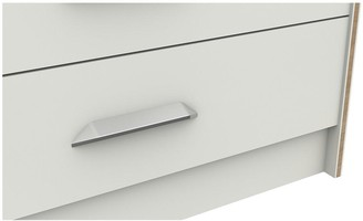 Brianne Ready Assembled 3 Piece Package -5 Drawer Chest and 2 Bedside Chests