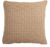 Burchett Knit Cotton Throw Pillow Wrought Studio Color: Brown, Fill Material: Down