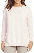 Lauren Ralph Lauren Plus Twill-Front Silk-Blend Sweater