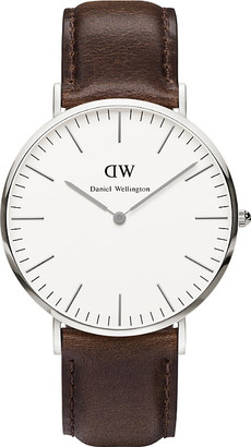 Daniel Wellington Women's Stainless Steel 0209Dw Bristol And Leather Strap