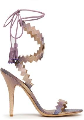 Etro Tasseled Elaphe Sandals