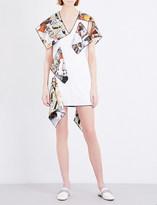 Christopher Kane Photo-print satin dress