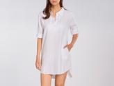 Allen Allen Roll Sleeve Mock Pocket Shirt Dress