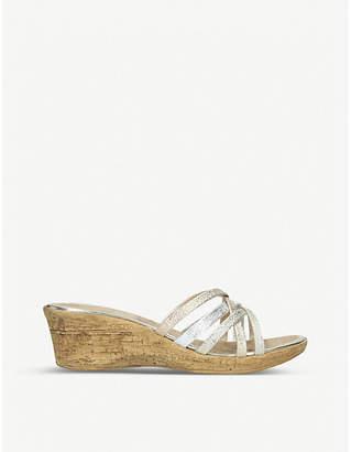 Carvela Comfort Scarlett metallic wedge sandals