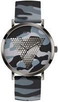 Guess Men's Camo Logo Dial & Strap Gunmetal Watch