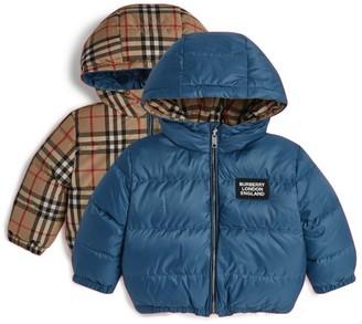 Burberry Kids Hooded Logo Puffer Jacket