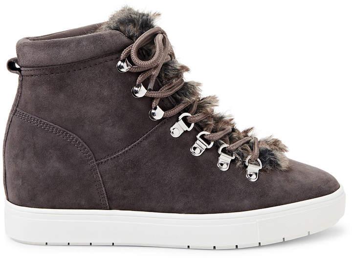 954678cb0fc Grey Kalea Suede Wedge Sneakers
