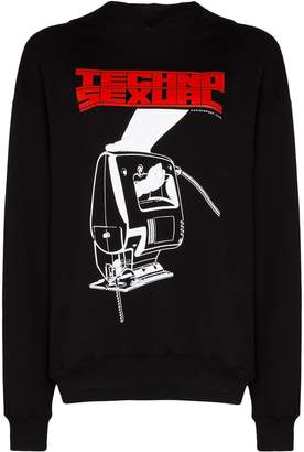 Christopher Kane oversized graphic-print hoodie