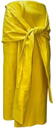 Joseph Yellow Leather Skirt for Women