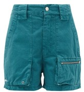 Phipps - Patch-pocket Organic Cotton-twill Shorts - Womens - Blue
