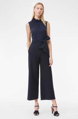 Rebecca Taylor Tailored Clean Suiting Silk Jumpsuit