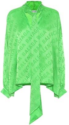 Balenciaga Jacquard silk blouse