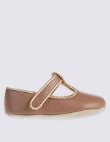 Marie Chantal Marie-chantal Baby Leather Riptape T-Bar Shoes