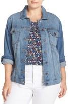 KUT from the Kloth Plus Size Women's Helena Distressed Denim Jacket