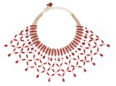 Rosantica 'Rete' lattice effect bead bib necklace