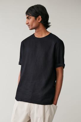 Cos Oversized Linen T-Shirt