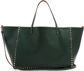 Valentino Rockstud reversible grained-leather tote
