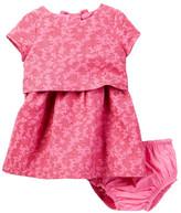 Kate Spade Jacquard Dress & Bloomer Set (Baby Girls)