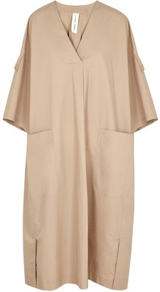 Lee Mathews Workroom Sand Poplin Midi Dress