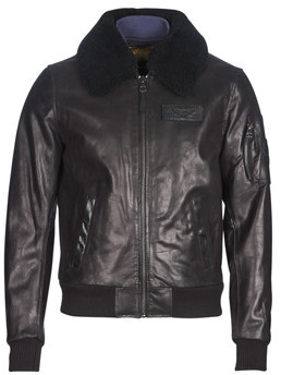 Redskins COMMANDER STRIKING men's Leather jacket in Black