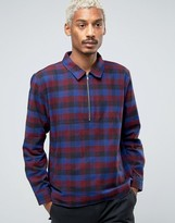Stussy Overhead Shirt With Zip In Regular Fit