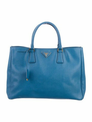 Prada Large Saffiano Lux Tote Blue