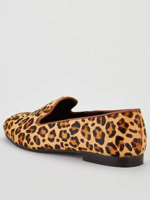 Very Mel Leather Slipper Cut Loafer - Leopard