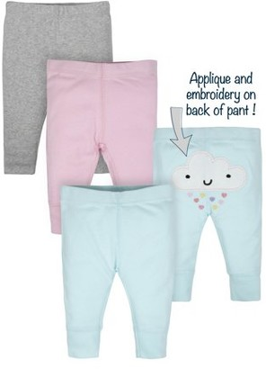Gerber Baby Girl Organic Active Pants, 3-Pack