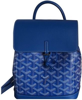 Goyard Blue Cloth Backpacks