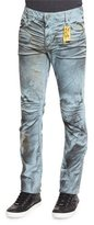 Robin's Jeans Motard Wax-Coated Jeans, Dark Brown