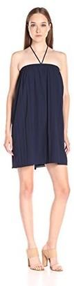 Lucca Couture Women's Halter Chambray Linen Gauze Dress