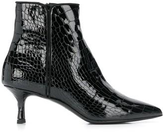 Albano croco embossed boots