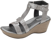Naot Footwear Women's Sandals Silver - Silver Flirt Leather Wedge Sandal - Women