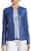 Lafayette 148 New York Kyla Paneled Leather Jacket