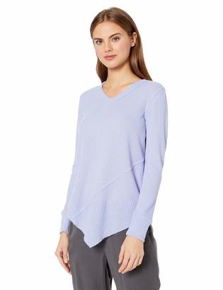 William Rast Women's Frankie Asymmetrical Long Sleeve Vneck Top