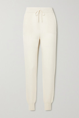 LOULOU STUDIO Maddalena Cashmere Track Pants - White