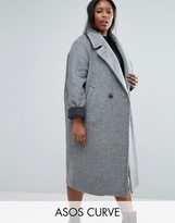 Asos Coat in Cocoon Fit with Contrast Cuff