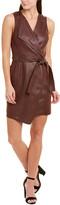 BCBGMAXAZRIA Tie-Waist Faux Wrap Dress