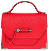 Mackage Keeley Structured Leather Shoulder Bag In Flame