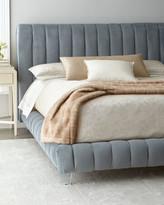 Haute House Amal Channel-Tufted King Platform Bed