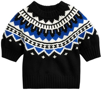 Polo Ralph Lauren Fair Isle Puff Sleeve Sweater